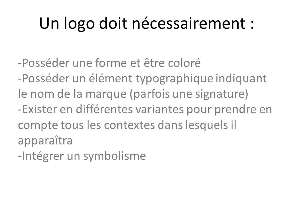 Un logo doit nécessairement :