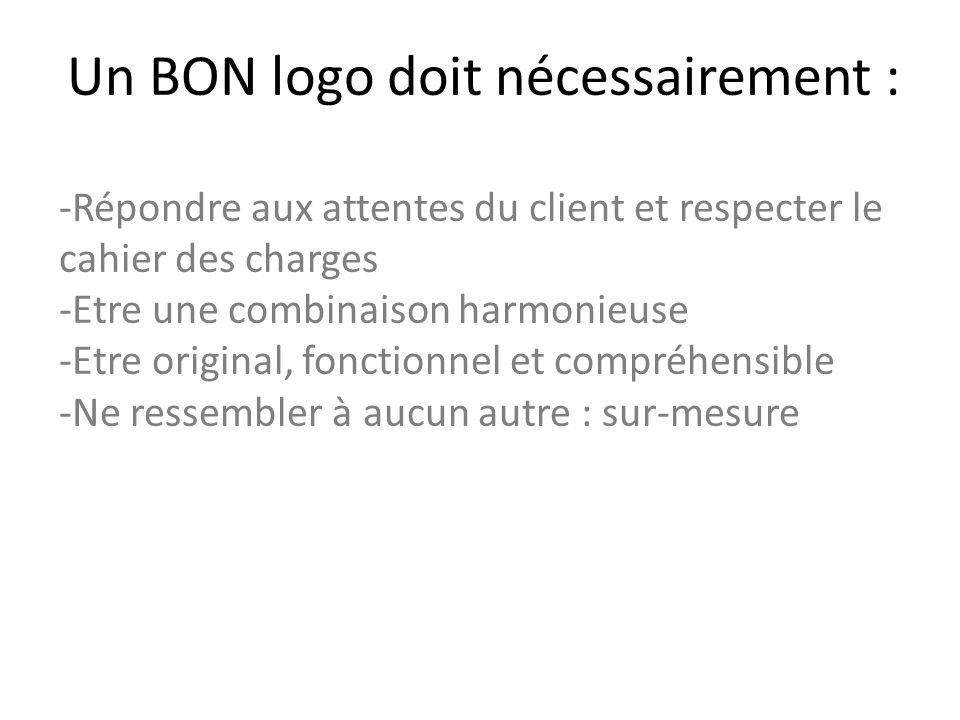 Un BON logo doit nécessairement :
