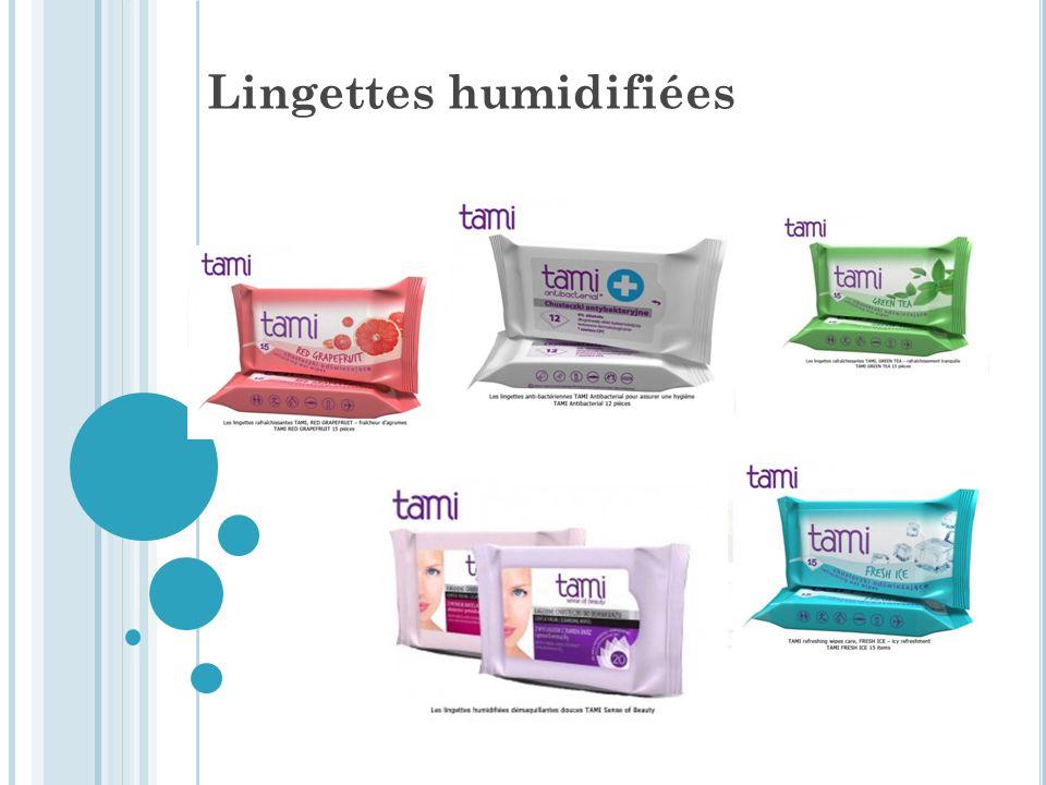 Lingettes humidifiées