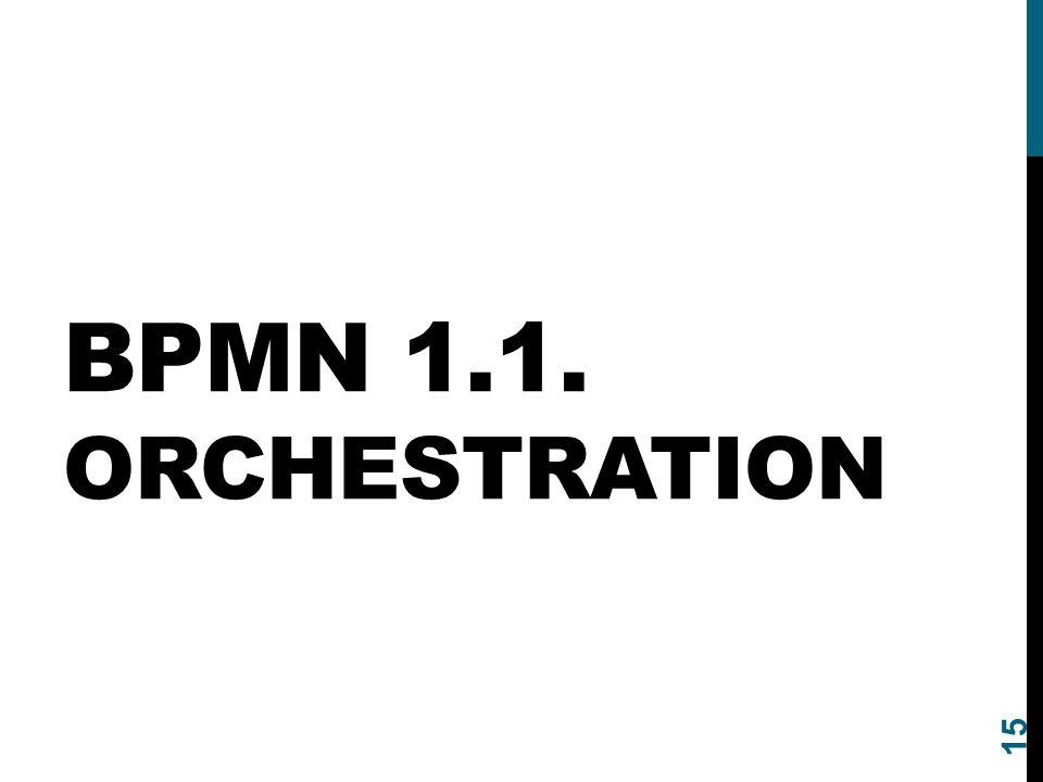 BPMN 1.1. Orchestration