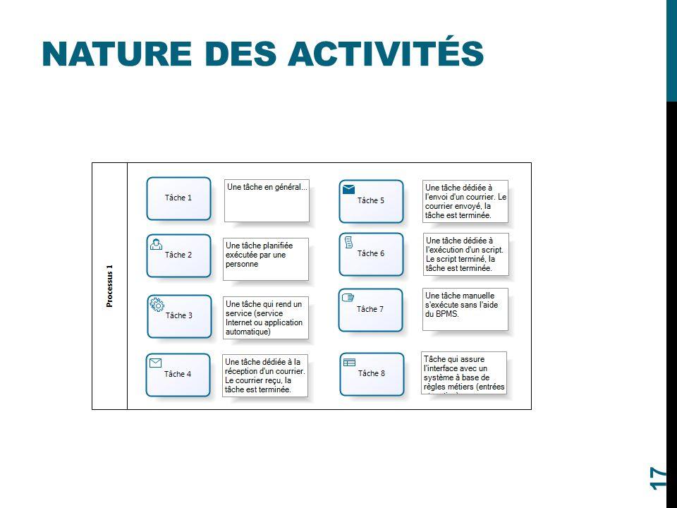 Nature des activités