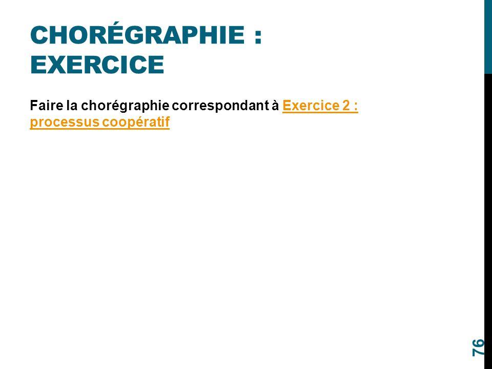 Chorégraphie : Exercice
