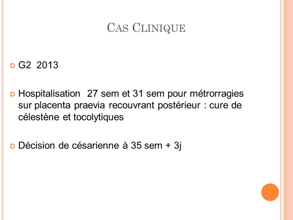 Cas Clinique G2 2013.