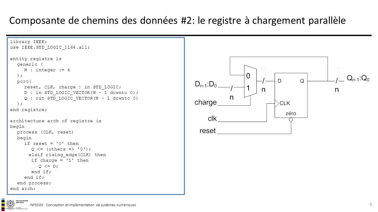 Composante de chemins des données #2: le registre à chargement parallèle