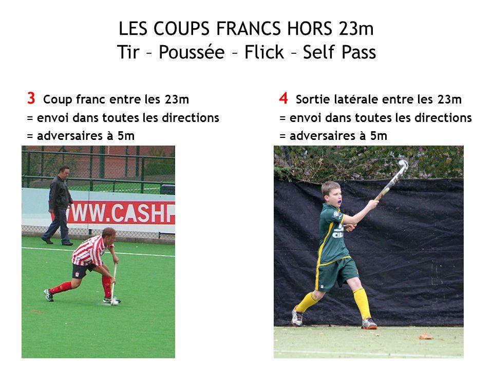 LES COUPS FRANCS HORS 23m Tir – Poussée – Flick – Self Pass