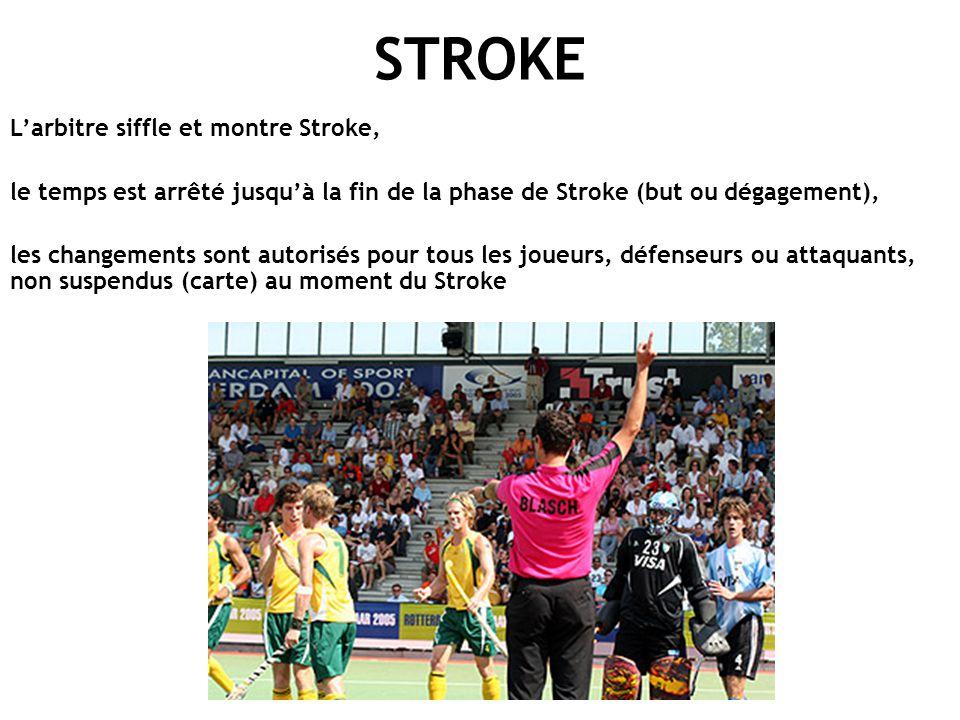 STROKE L'arbitre siffle et montre Stroke,