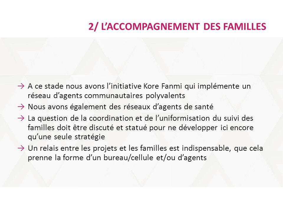 2/ L'ACCOMPAGNEMENT DES FAMILLES