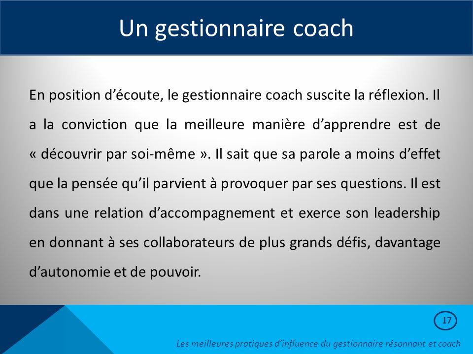 Un gestionnaire coach
