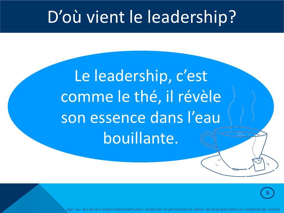 D'où vient le leadership