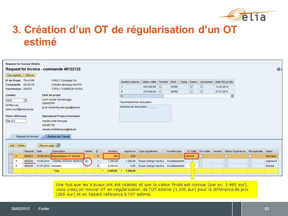 3. Création d'un OT de régularisation d'un OT estimé