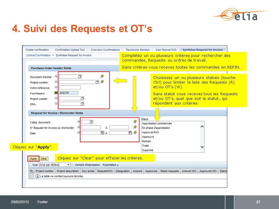 4. Suivi des Requests et OT's