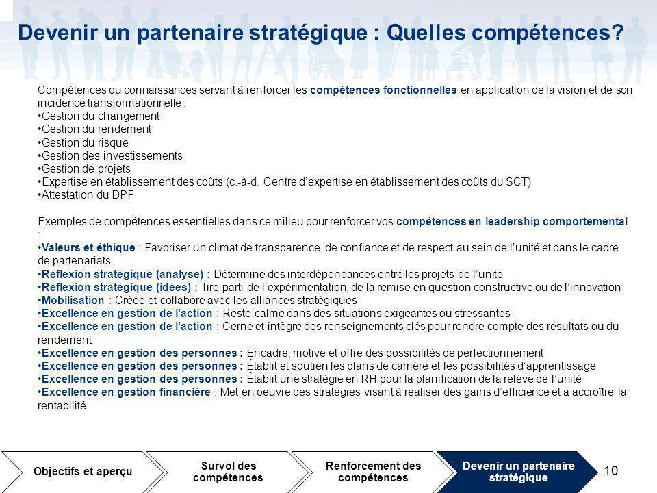 Devenir un partenaire stratégique : Quelles compétences