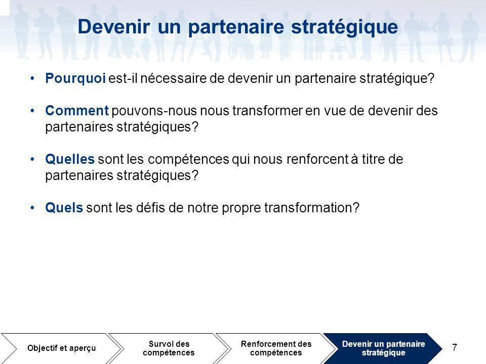 Devenir un partenaire stratégique