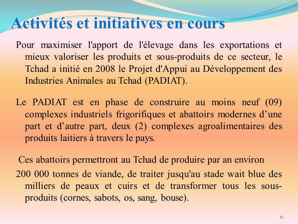 Activités et initiatives en cours
