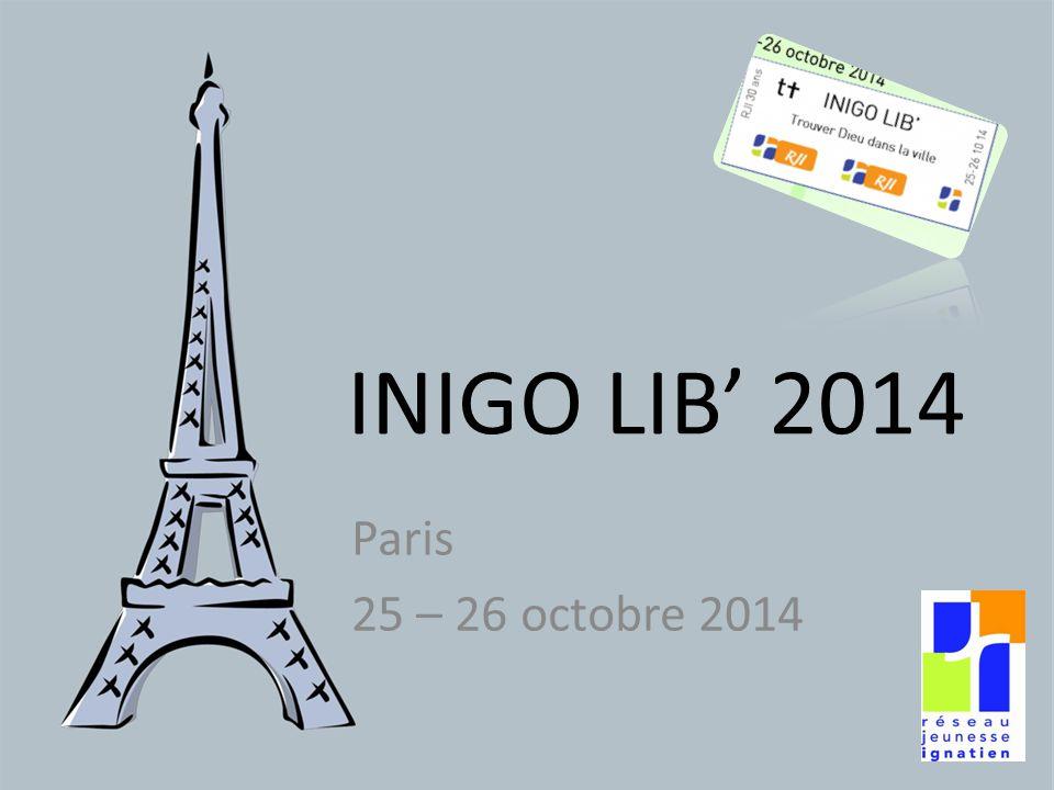 INIGO LIB' 2014 Paris 25 – 26 octobre 2014