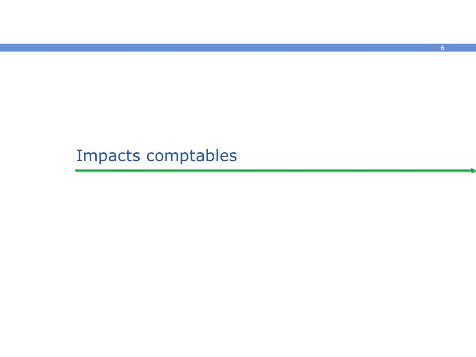 Impacts comptables