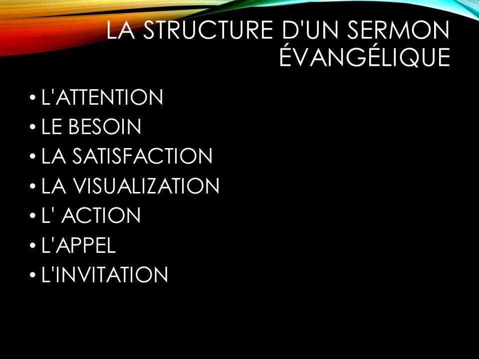 La structure d un sermon évangélique