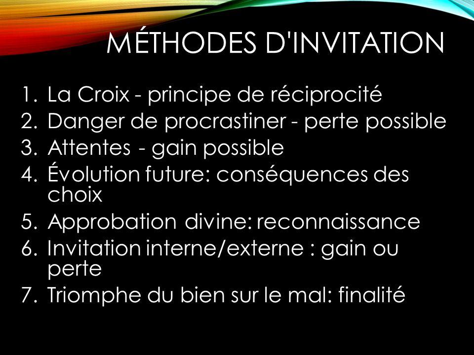 Méthodes d invitation La Croix - principe de réciprocité