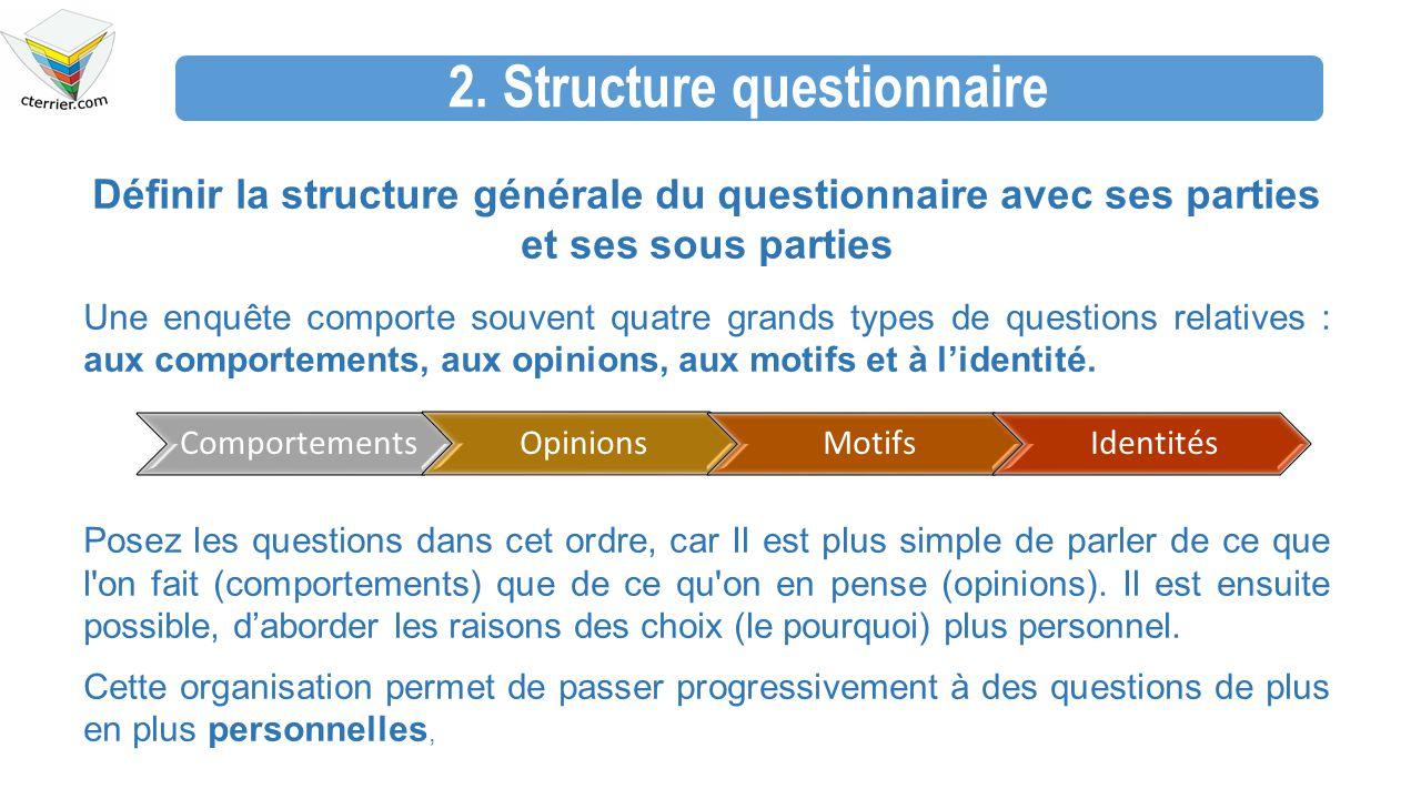 2. Structure questionnaire