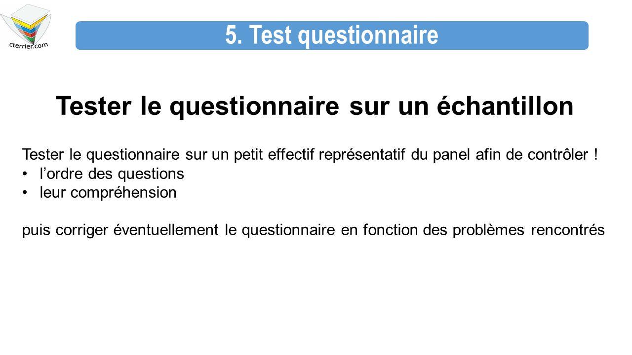 Tester le questionnaire sur un échantillon