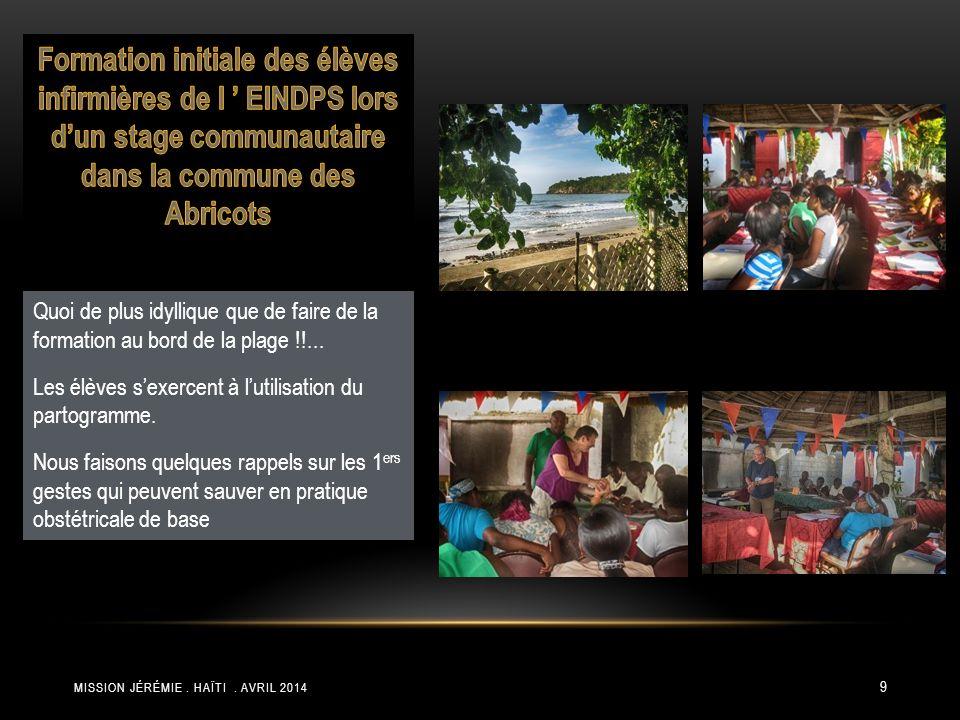Formation initiale des élèves infirmières de l ' EINDPS lors d'un stage communautaire dans la commune des Abricots