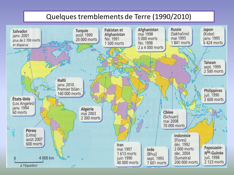Quelques tremblements de Terre (1990/2010)