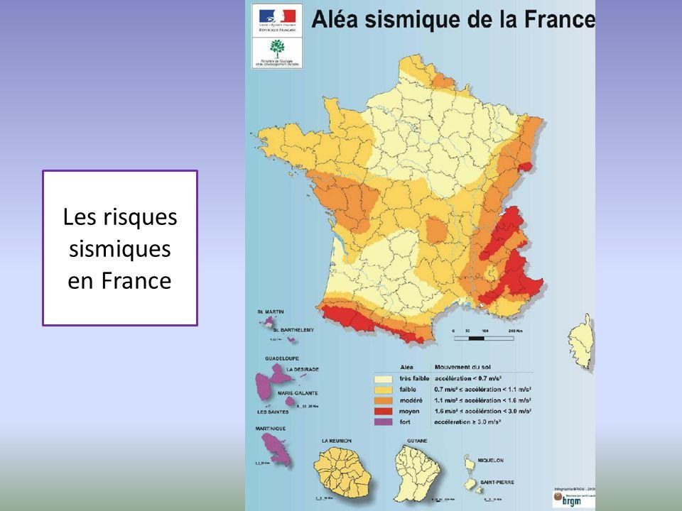 Les risques sismiques en France