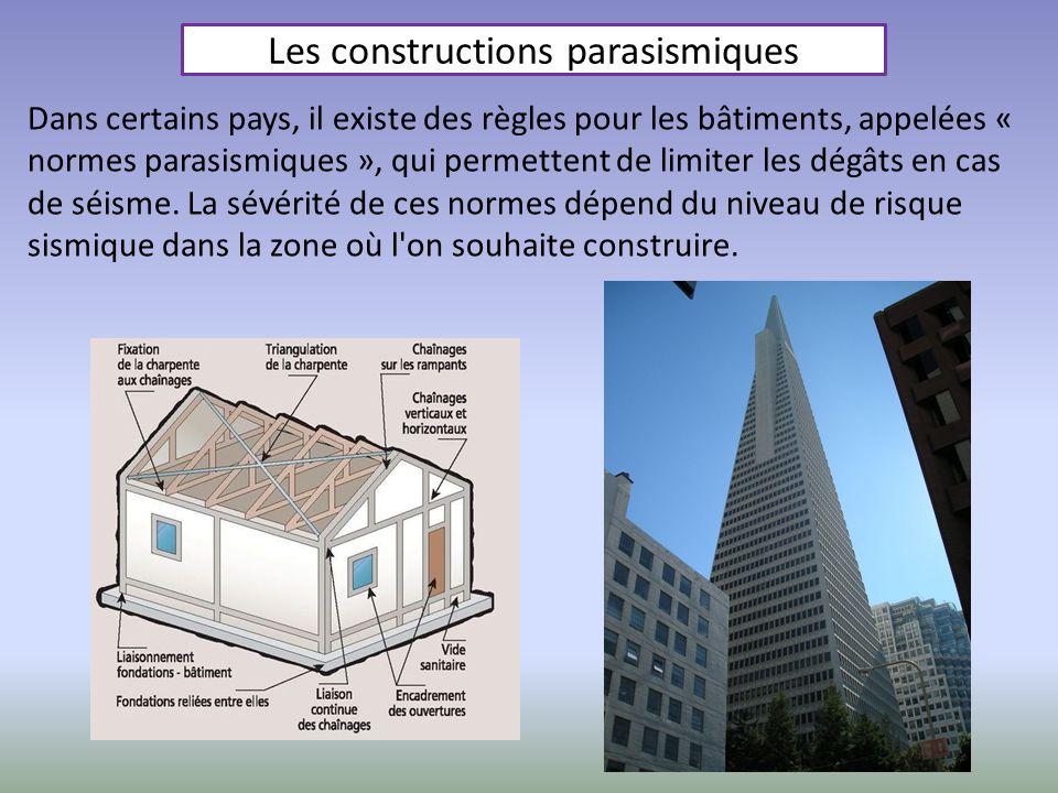 Les constructions parasismiques