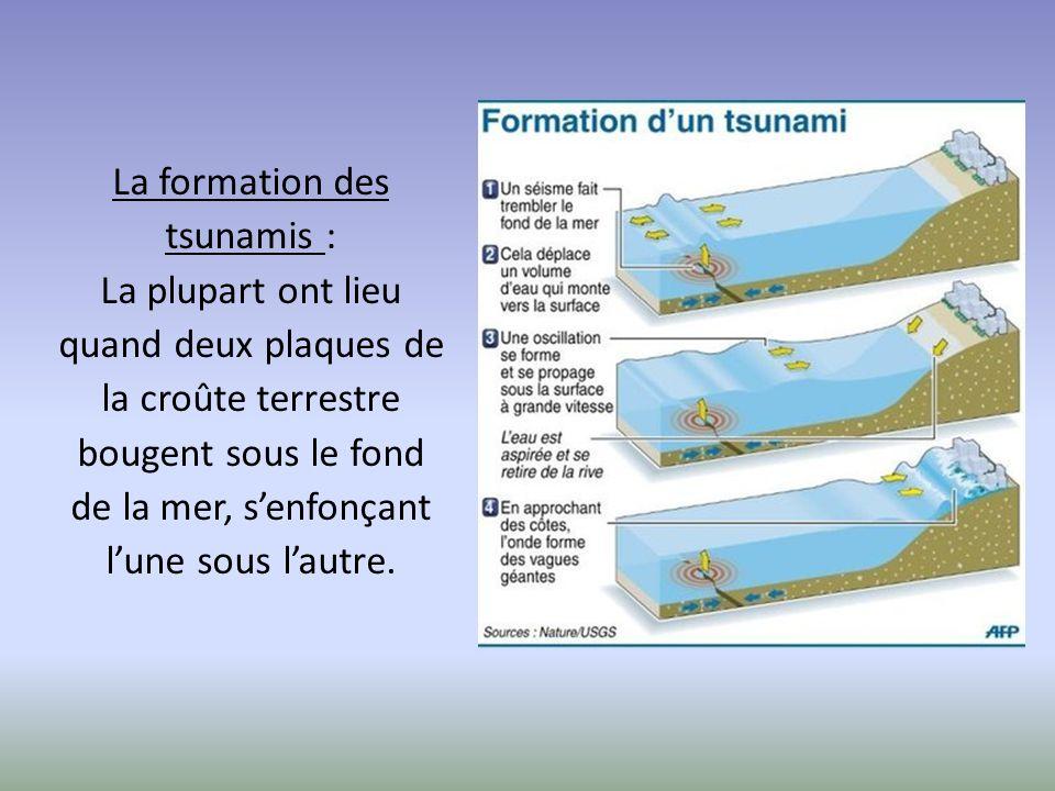 La formation des tsunamis :