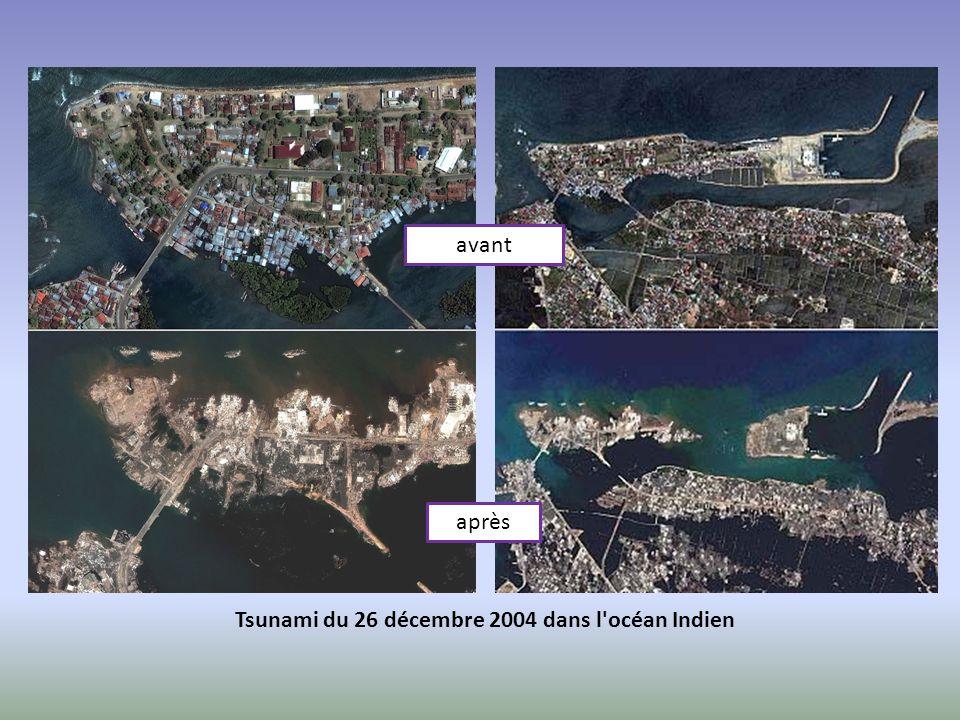 avant après Tsunami du 26 décembre 2004 dans l océan Indien