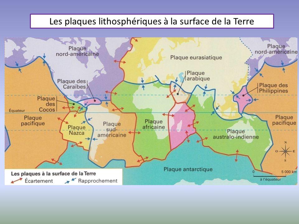 Les plaques lithosphériques à la surface de la Terre