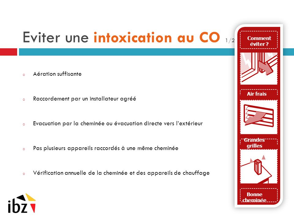 Eviter une intoxication au CO 1/2