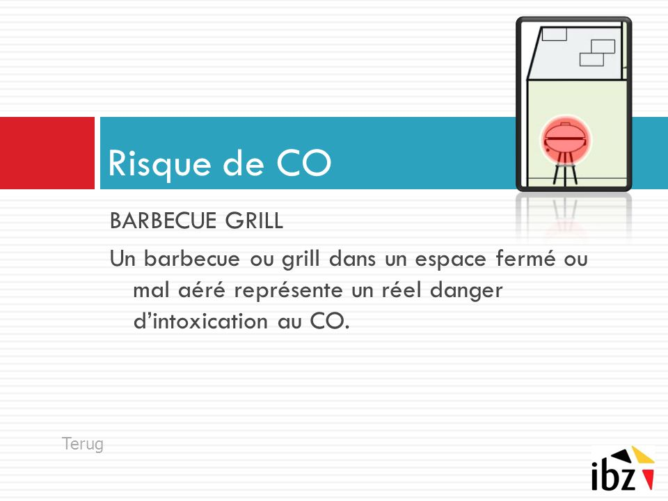 Risque de CO BARBECUE GRILL