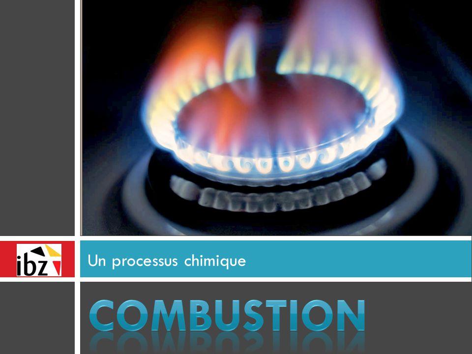 Un processus chimique COMBUSTION