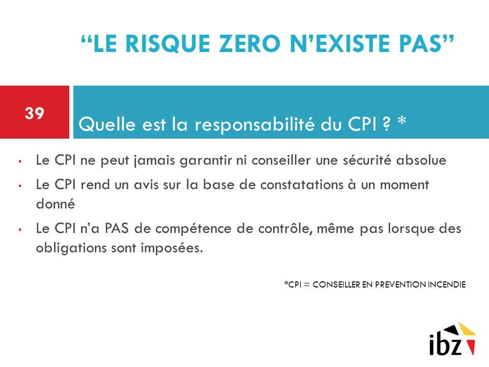 Quelle est la responsabilité du CPI *