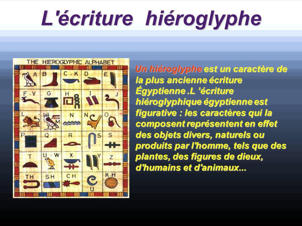 L écriture hiéroglyphe