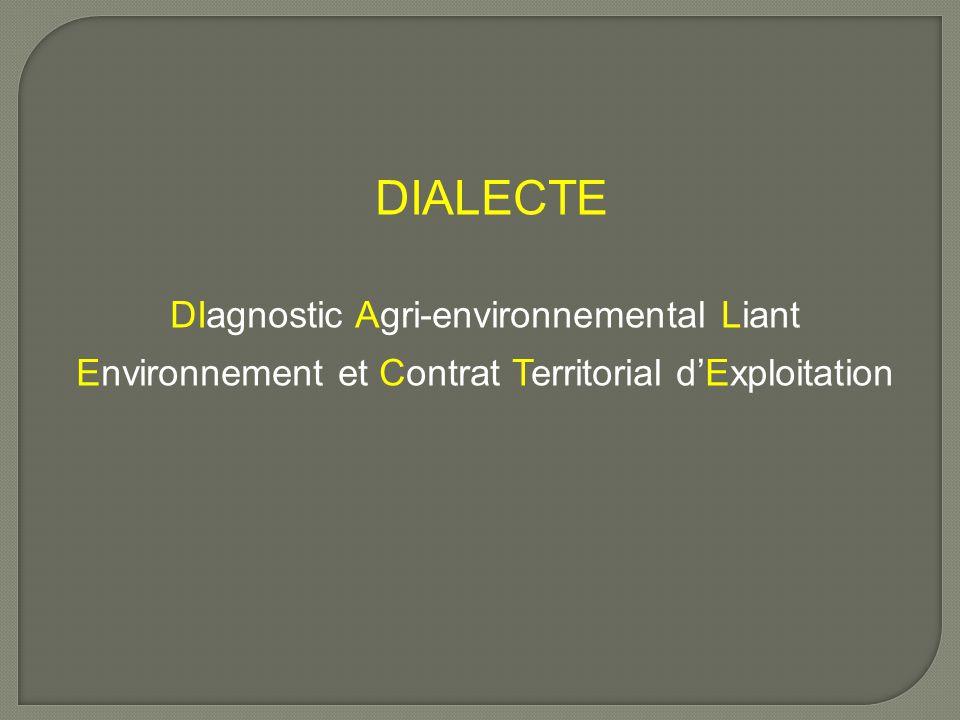 DIALECTE DIagnostic Agri-environnemental Liant