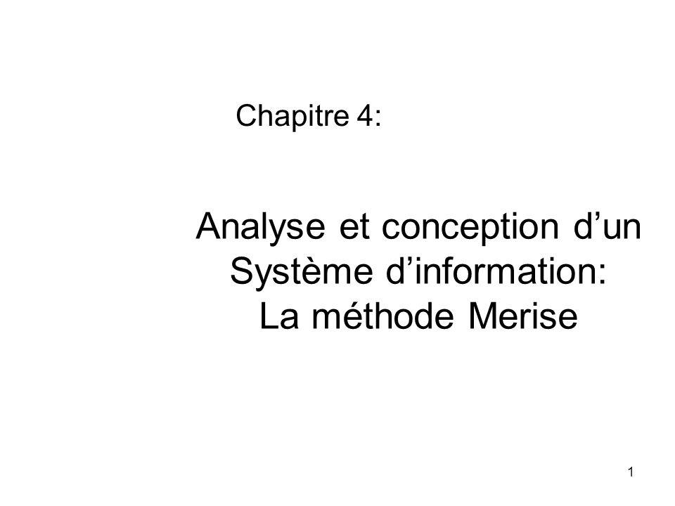 Analyse et conception d'un Système d'information: La méthode Merise