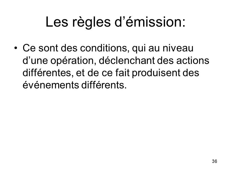 Les règles d'émission: