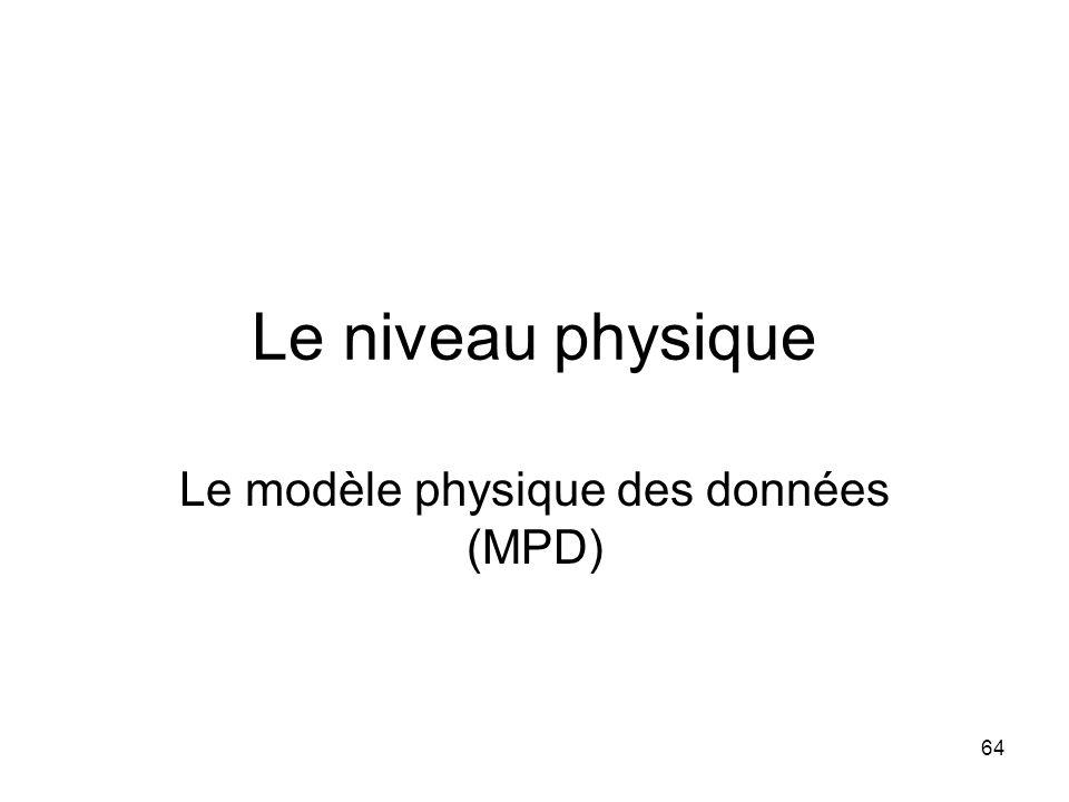 Le modèle physique des données (MPD)