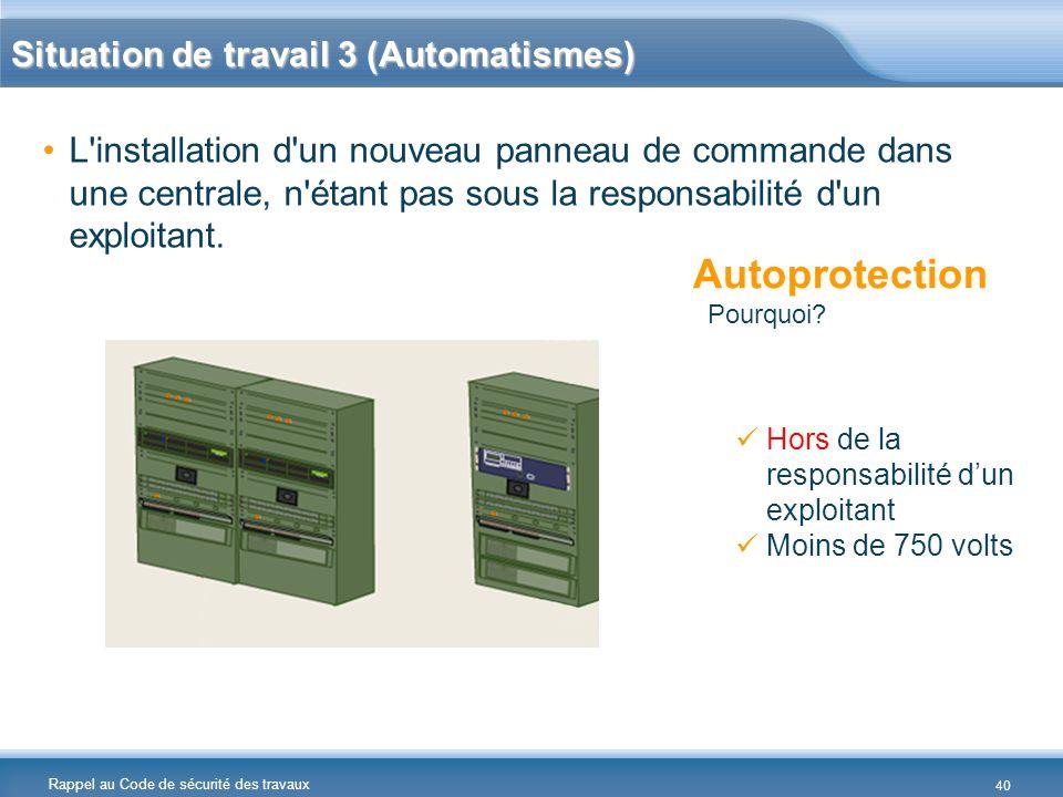 Situation de travail 3 (Automatismes)