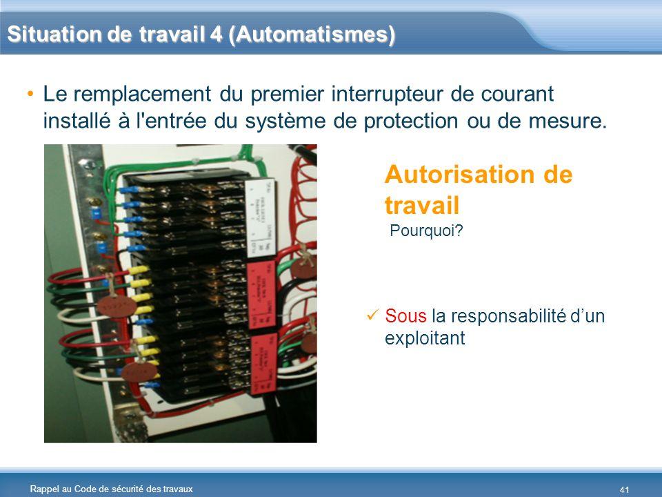 Situation de travail 4 (Automatismes)