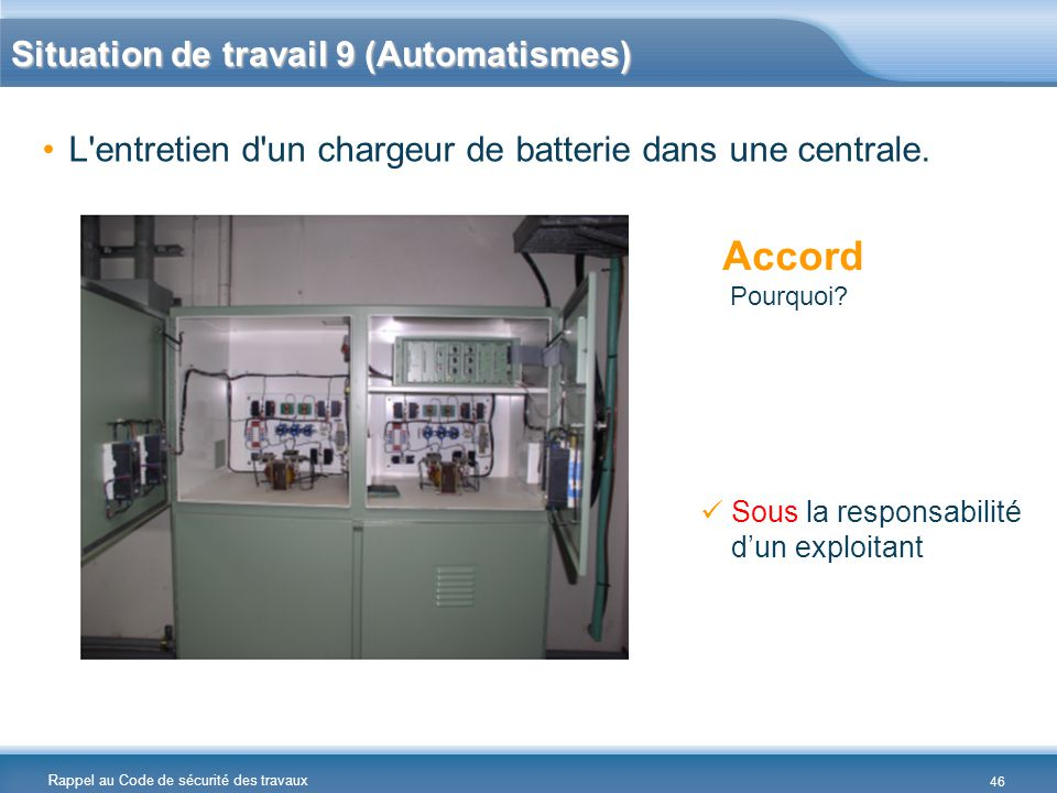 Accord Situation de travail 9 (Automatismes)