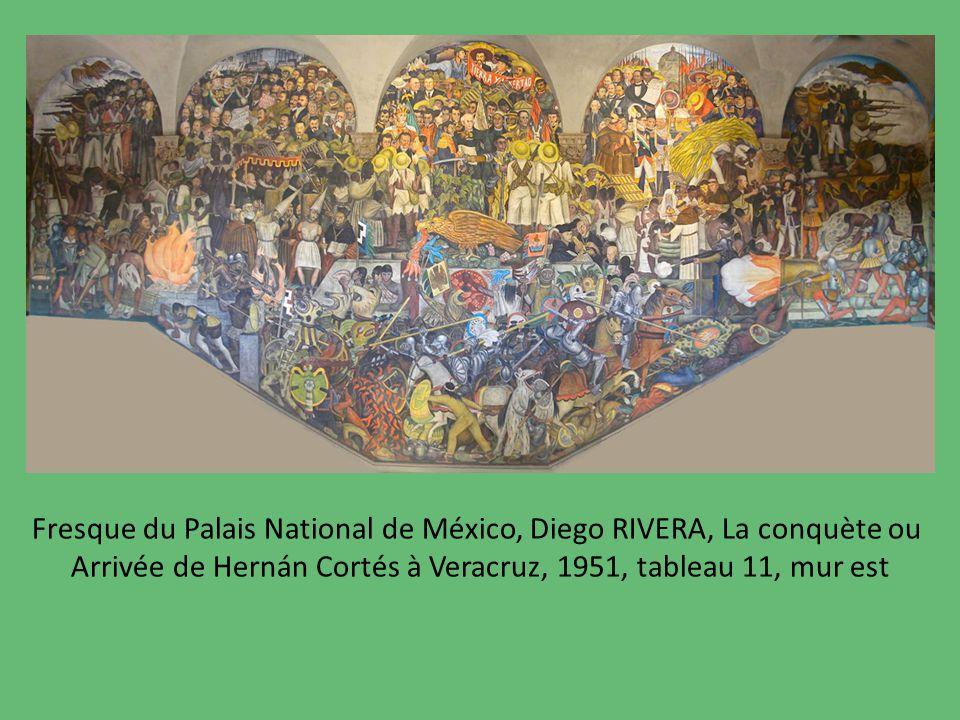Fresque du Palais National de México, Diego RIVERA, La conquète ou
