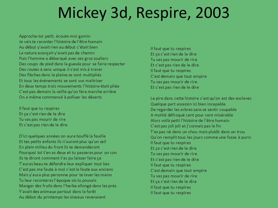 Mickey 3d, Respire, 2003