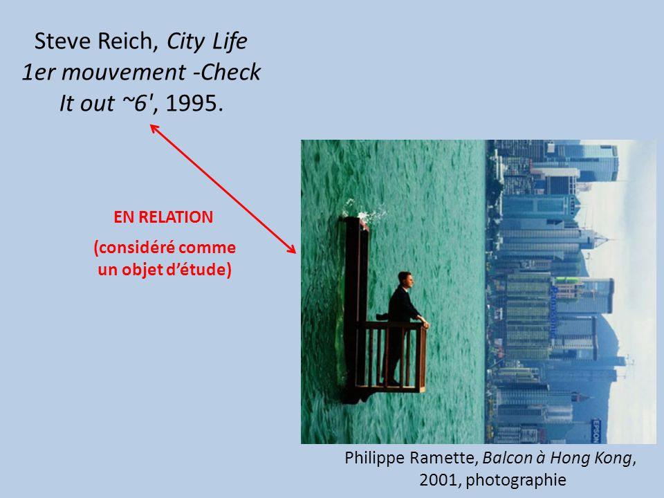 Steve Reich, City Life 1er mouvement -Check It out ~6 , 1995.