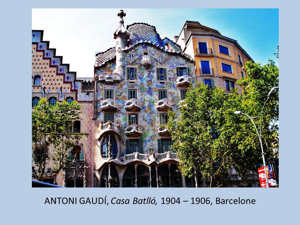 ANTONI GAUDÍ, Casa Batlló, 1904 – 1906, Barcelone
