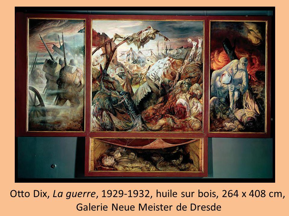 Otto Dix, La guerre, 1929-1932, huile sur bois, 264 x 408 cm,