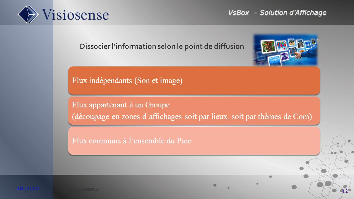 Dissocier l'information selon le point de diffusion