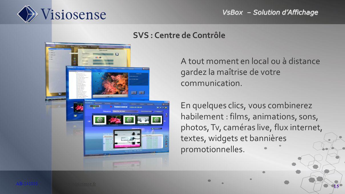 SVS : Centre de Contrôle